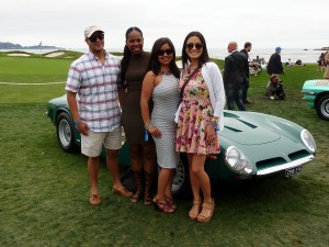 There's almost too many beautiful people at Pebble Beach mugging in front of their favorite (or just their) cars...and why not.  Its that kind of day.