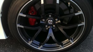 Wheels are light, strong, allow plenty of brake cooling, and look terrific in this deep anthracite gray.