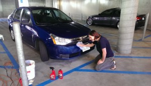 This isn't a Turkish car, but it is daughter Mo shining up her very American Ford Focus, prior to leaving for eastern Europe.