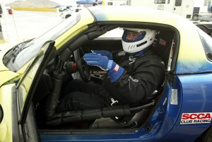 Yes that's me at SCCA racing school in a Spec Miata racer, talking with my hands like most race drivers do. Wish I were fast like them.