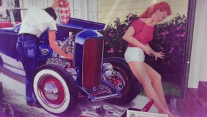 Not sure about you, but I've had this dream; a great '32 Ford hot rod and a lovely young woman in short shorts to help me detail and wrench on it, or just stand around and be hot.