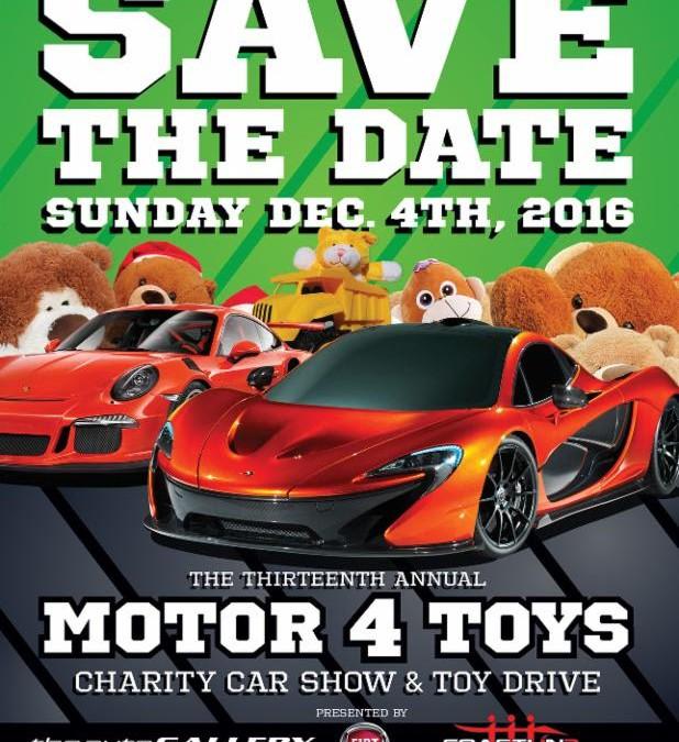 Calendar Alert: Motor4Toys is Sunday, December 4
