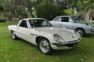Fine array of Asian classics on hand like this dazzling Mazda Cosmo and the right hand drive Hino coupe just behind.