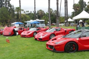 How's this for a heart-stopping layout of all of Ferrari's great hypercars.  And yes, they all belong to one (very lucky) guy.