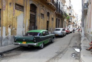 The variety of great cars that were marooned on Cuba during the revolution and subsequent embargo is shockingly wonderful. I actually saw this Plymouth out on the roads when I was there.