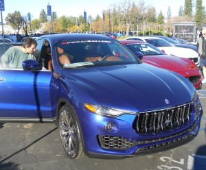 This was the first time or place that many people saw Maserati's fabulous new Levante SUV.
