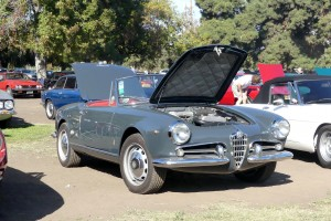 A slate gray over red Alfa Romeo Giulietta Spyder is just NEVER wrong in my book.