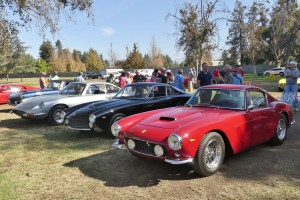 """Always lots of great Ferraris at this even, including these two Lussos and a365 """"Queen Mum."""""""
