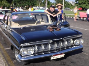 Wish this shot were in focus. This immaculate black '59 hardtop sedan was a damn fine ride, diesel engine and all.