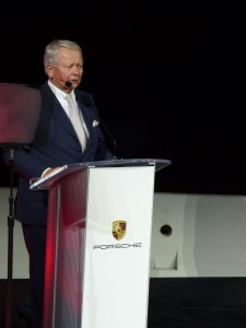 FAMILY TIES: Dr. Wolfgang Porsche addressed the crowd, welcoming Porsche to greater Los Angeles.