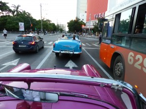 "Talk about a ""vroom with a view"" cruising Cuba in the back seat of a 50s American convert is the only way to fly."