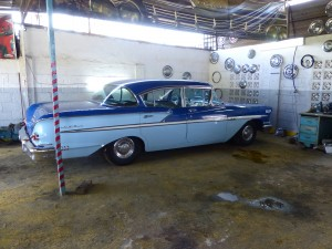 Who wouldn't want this fabulous '58 Bel Air sedan in their garage?