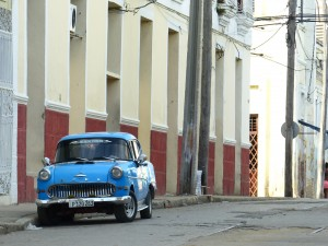 Lonely old Holden on the time worn streets of Cienfuegos.