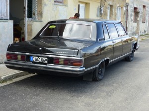 Now tell me this Cold War Russian Chaika limo doesn't look like a stretched and slightly overinflated Grand Marquies.