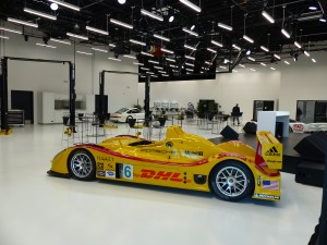 The new Porsche Motorsport race shop is so large, clean and bright that they could easily do human heart transplants there.