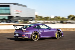 PURPLE RAIN: If the Late, Great Prince had a Porsche GT3 RS, this would be it.