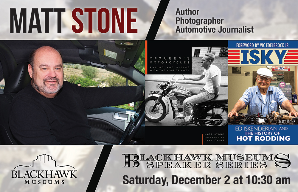 Please Come Meet Me at the Blackhawk Museum December 2, 2017