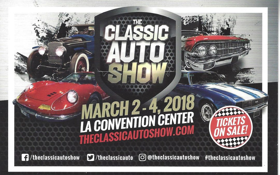 JAY LENO, STEVE MOAL, MIKE BREWER, AND DONALD OSBORNE JOIN AN EXTENSIVE CAST OF AUTOMOTIVE CELEBRITIES AT THE CLASSIC AUTO SHOW