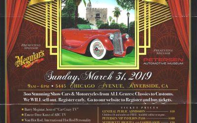 CALENDAR ALERT: Benedict Castle Concours March 31,2019