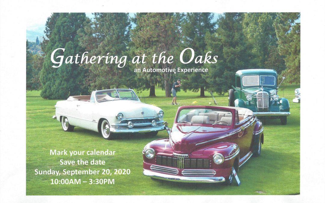 Calendar Alert: Gathering at the Oaks – An Automotive Experience