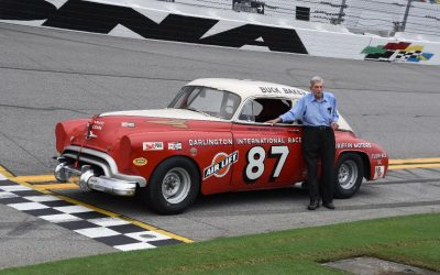 News from Amelia Island Concours: Paul Goldsmith and Linda Vaughn Welcome NASCAR's Oldest Racecar to the Motorsports Hall of Fame of America Museum