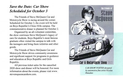 See you Sunday – the Steve McQueen Car Show is this Sunday, October 3